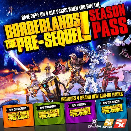 Borderlands The Pre-Sequel Season Pass (PC)