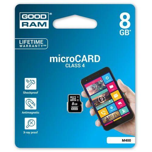 GOODRAM microSD 8GB CL4 DARMOWA DOSTAWA DO 400 SALONÓW !! (5908267913260)