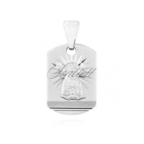 Srebrny (pr.925) medalik diamentowany Matka Boska Nieustającej pomocy - GMD028