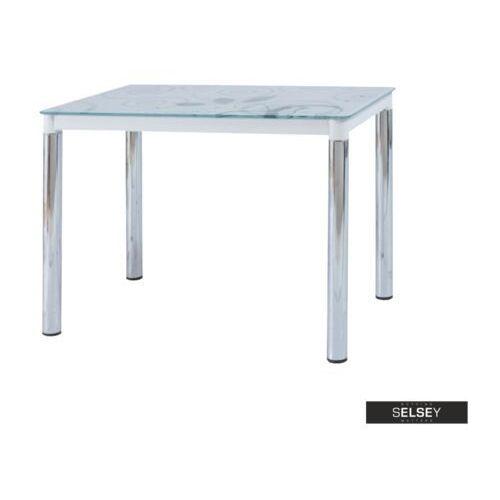 SELSEY Stół Skast 100x60 cm biały na chromowanej podstawie (5903025237916)