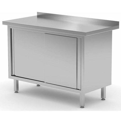 Stół przyścienny szafka z drzwiami suwanymi  szer: 800-1900mm gł.600mm marki Polgast