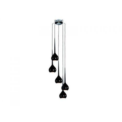 Lampa wisząca Aga 5 Azzardo Black, kolor czarny
