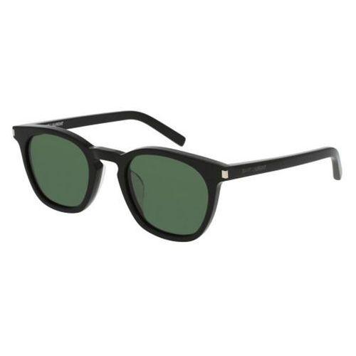Okulary Słoneczne Saint Laurent SL 28/F Asian Fit Polarized 012, kolor żółty