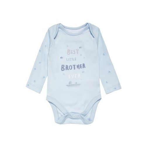 mothercare BEST LITTLE BROTHER Body light blue