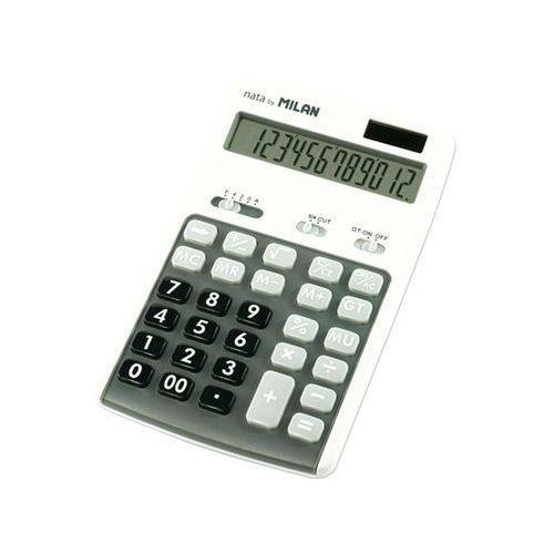 Kalkulator Milan 12 pozycyjny, szary (8411574036562)