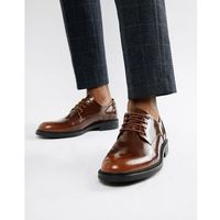 Zign chunky lace up shoes in brown high shine - brown