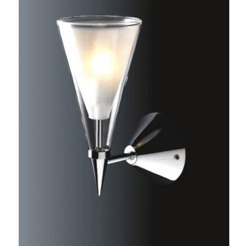 Italux Kinkiet lampa ścienna butio mb9190-1a halogenowa oprawa stożek przezroczysty biały