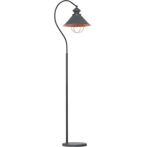 Nowodvorski Lampa podłogowa loft 5056 taupe i metalowa 1x60w e27 szara