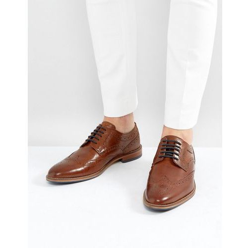 River Island Leather Brogues In Brown - Brown
