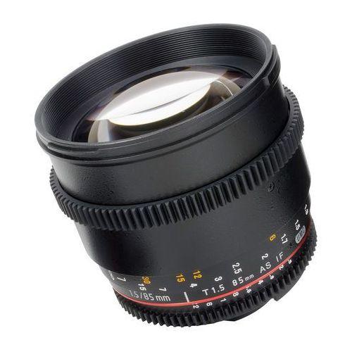 Samyang Obiektyw 85mm t1.5 vdslr ii nikon czarny (f1313003101) darmowy odbiór w 21 miastach!