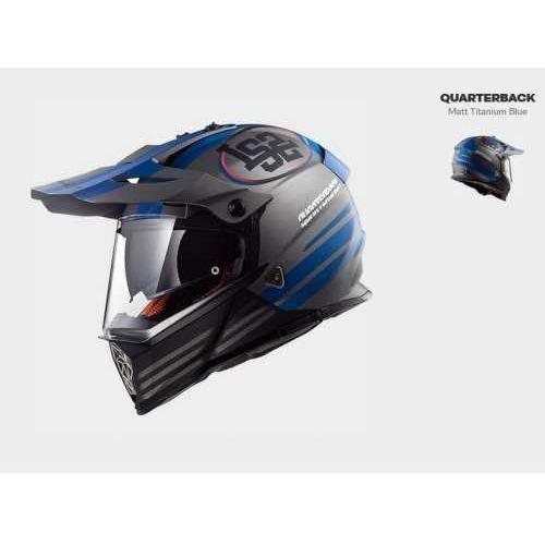 Ls2 Kask motocyklowy enduro kask mx436 pioneer quarterback m/t/blue
