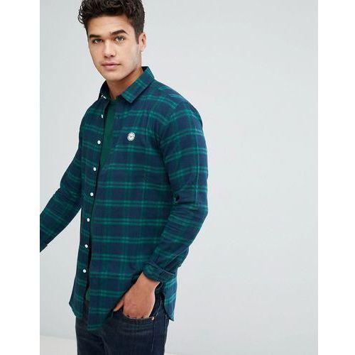 flannel longline check shirt - multi marki Le breve