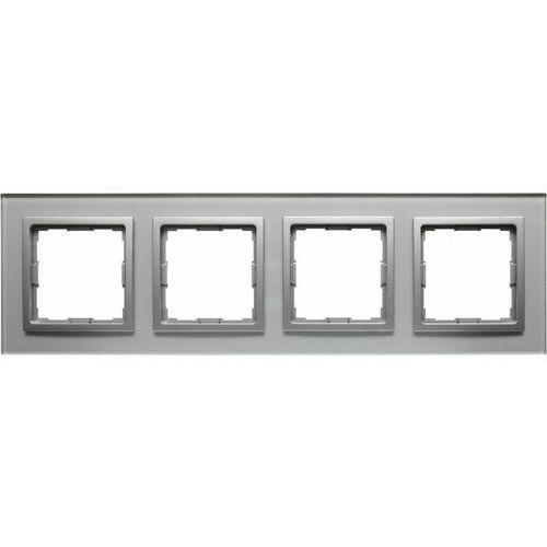 VENA2:XGlass SREBRNY ramka x4, kolor srebrny