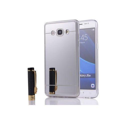 Etui lustrzane mirror gel Samsung Galaxy J5 2016 J5108 Srebrne - Srebrny