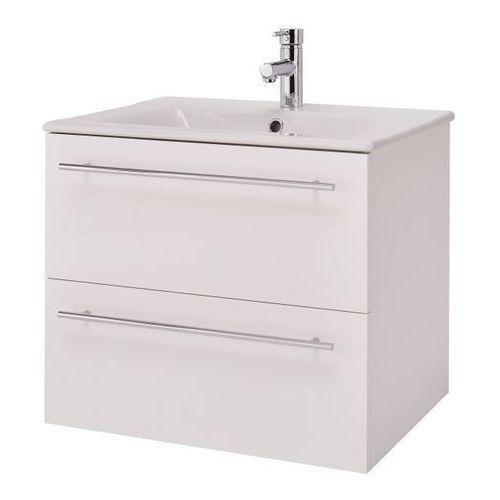 Zestaw szafka z umywalką Cersanit Elisa 60 cm biały