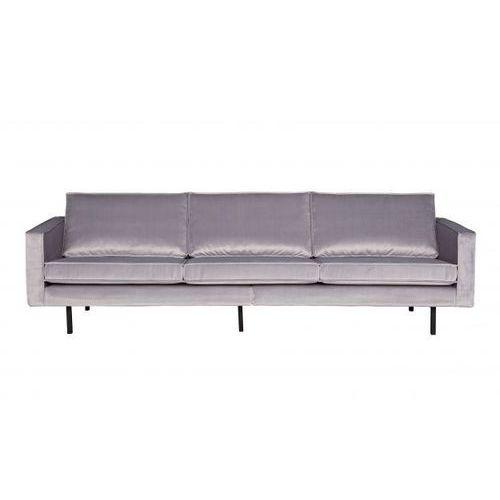 Be pure sofa rodeo 3-osobowa aksamitna jasnoszara 149 800543-l