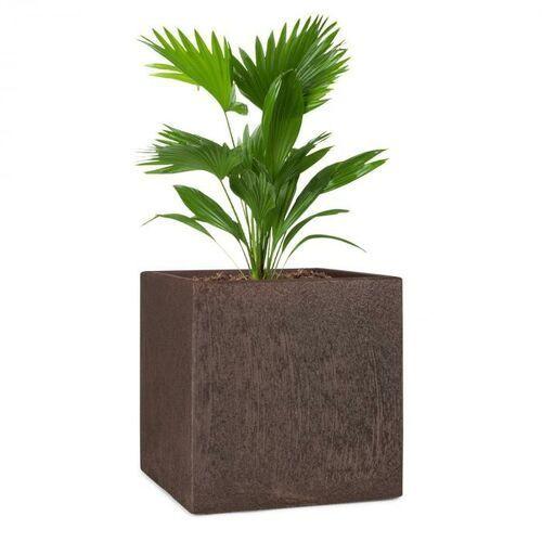 Blumfeldt Solid Grow Rust, pojemnik na rośliny, 40 x 41 x 40 cm, Fibreclay, kolor rdzawy