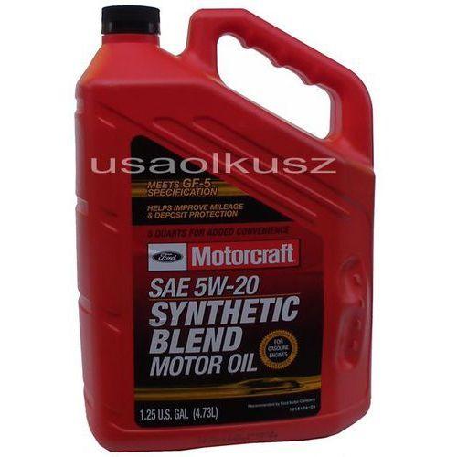 Syntetyczny olej silnikowy 5w20 4,73l ford marki Motorcraft