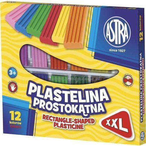 Plastelina prostokątna XXL 12 kolorów (303117001) - . (5901137102405)