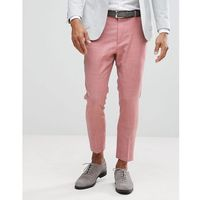 Asos wedding tapered smart trousers in pink 100% wool - pink