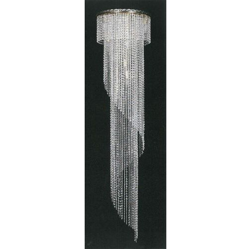 Nowoczesny plafon kryształowy w kształcie spirali, L 746/10/05