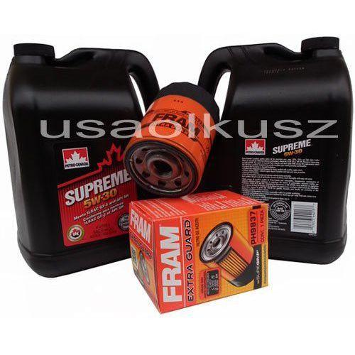 Filtr oleju oraz olej supreme 5w30 saab 9-7x 4,2 marki Petrocanada-fram