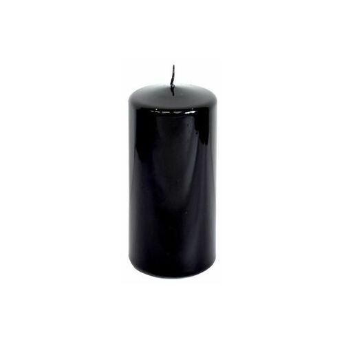 Świeca pieńkowa czarna połysk wys. 15 cm (5907573805658)
