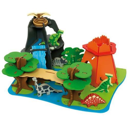 drewniana wyspa dinozaurów marki Bigjigs toys