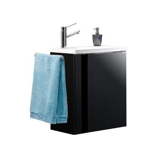 Lanzet Vedro szafka grafitowa 50 cm z umywalką - czarna \ 50 cm \ grafit o wysokim połysku
