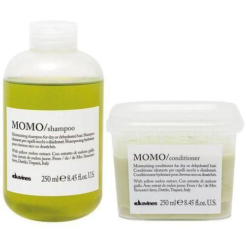 momo | zestaw nawilżający do włosów: szampon 250ml + odżywka 250ml marki Davines