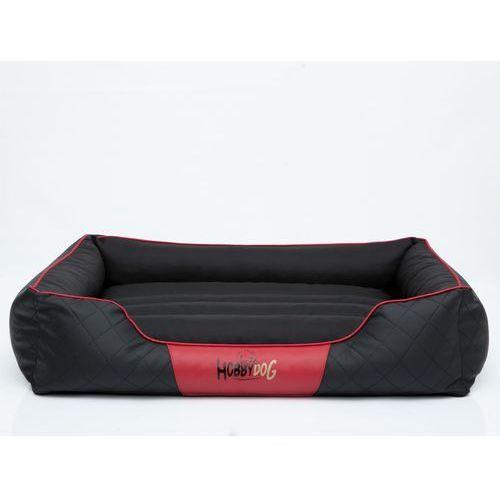 R4 legowisko cesarskie standard - czarne z czerwoną lamówką marki Hobbydog