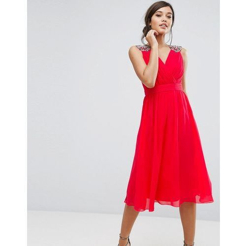 fddfe57634 chiffon midi dress with shoulder embelli.