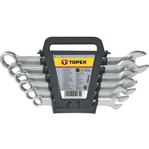 Zestaw kluczy płasko-oczkowych TOPEX 35D756 6 - 19 mm (8 sztuk) (5902062044631)