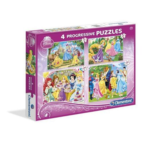 Puzzle CLEMENTONI Zestaw Księżniczki (20 +60 +100 +180 elementów) (8005125077083)
