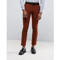 Noose & Monkey Super Skinny Suit Trousers - Orange, kolor pomarańczowy