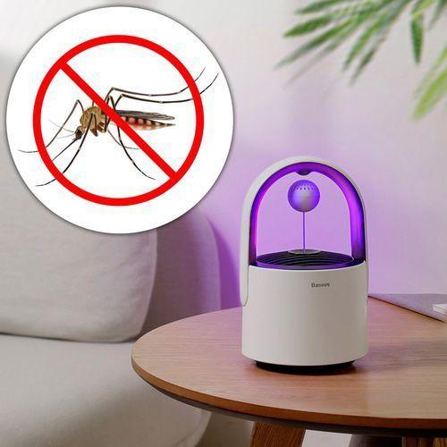 Baseus star mosquito killing lamp lampa owadobójcza uv na owady komary muchy biała (acmwd-ahx02)