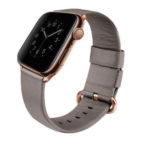 UNIQ pasek Mondain Apple Watch Series 4 44MM Genuine Leather beżowy/sand beige - Beżowy \ Watch 4 44mm, kolor beżowy