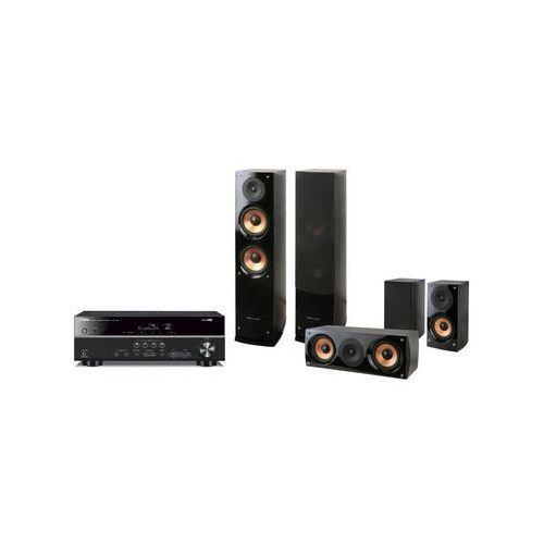 Yamaha RX-V381 (tytanowy), Pure Acoustics NOVA 6 (czarny) - produkt w magazynie - szybka wysyłka! (0000001082375)