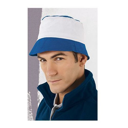 kapelusz bawełniany PAINTER bialo-niebieski, kolor niebieski