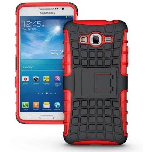Perfect Armor Czerwony   Pancerna obudowa etui dla Samsung Galaxy Grand Prime - Czerwony - produkt z kategorii- Futerały i pokrowce do telefonów