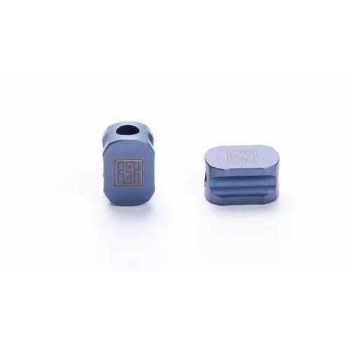 Tytanowy koralik do paracordu Real Steel Hexagon Blue L1101