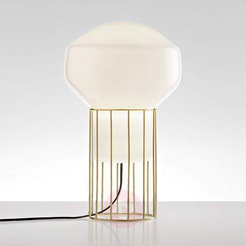 Lampa stołowa Aérostat, mosiężna stopa, 23 cm