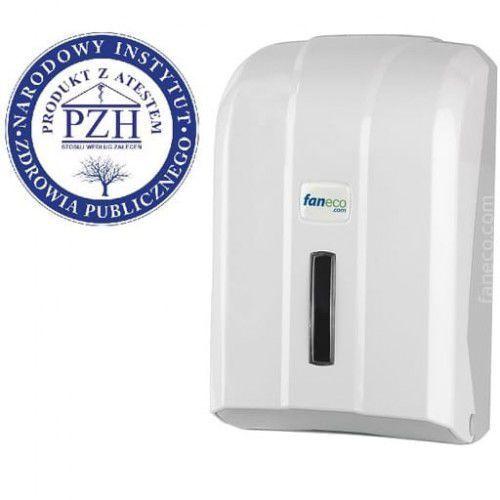 Pojemnik na papier toaletowy w listkach POP Faneco plastik biały (5901764290285)