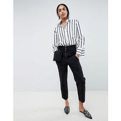 ASOS DESIGN Straight Leg Trousers With Detachable Bum Bag - Clear