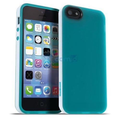 Meliconi Etui Jumper iPhone 5 5s zielony z białą obwódką (8006023204014) Darmowy odbiór w 20 miastach!, towar z kategorii: Futerały i pokrowce do telefonów