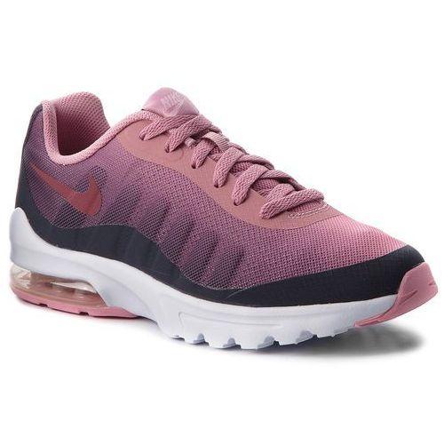 Nike Buty - air max invigor print (gs) ah5261 002 gridiron/vintage wine/pink