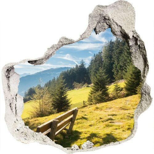Wallmuralia.pl Dziura 3d w ścianie naklejka jesień w górach
