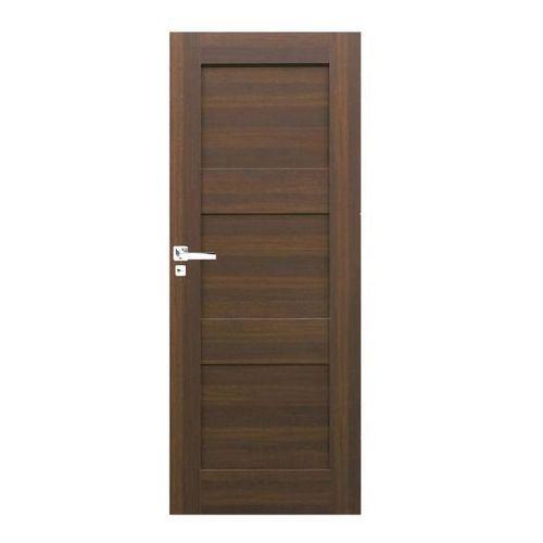 Drzwi pełne Tre 80 prawe orzech north, TRE013