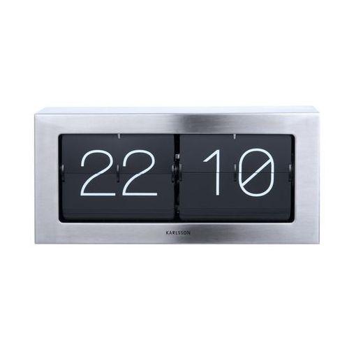 Zegar stołowo/ścienny Flip Clock Boxed XL steel by Karlsson, KA5642ST