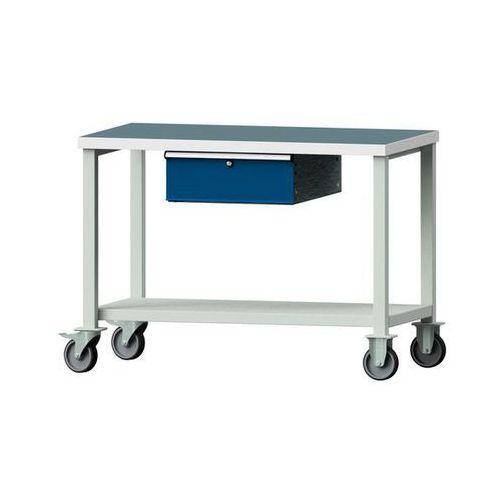 Anke werkbänke - anton kessel Kompaktowy stół warsztatowy, blat uniwersalny,szer. x głęb. 1140 x 650 mm, 1 szuflada